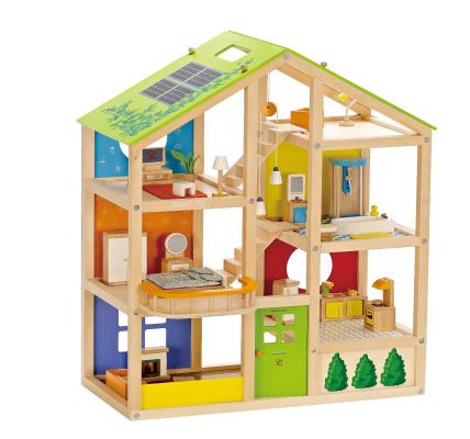 Hape - All Seasons Wooden Doll House