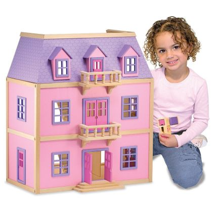 Melissa and Doug Multi-Level Wooden Dollhouse